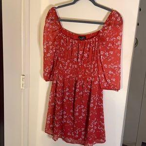 Floral pink/red dress